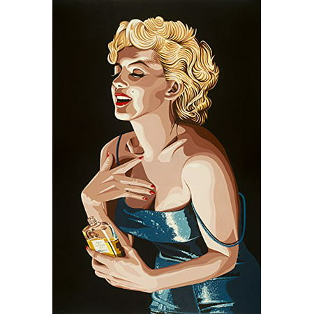 Chanel No. 5 by Karl Black 18x12 Art Print Poster   Marilyn Monroe Vintage Poster City Hollywood Collectable Memorabilia Marilyn Chanel POD - Party City Monroe Ny