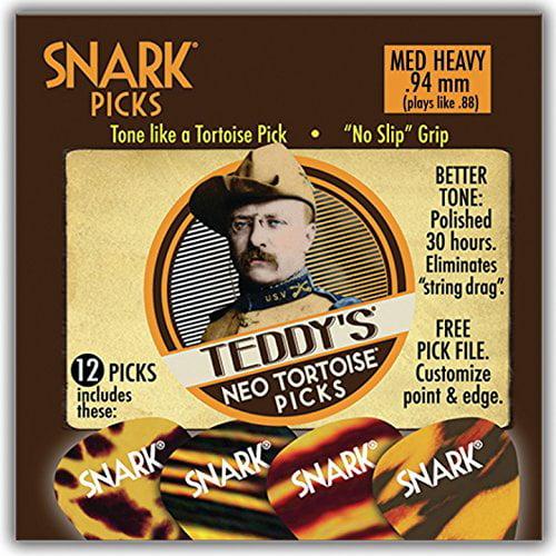 Snark Guitar Picks - Teddy Neo Tortoise - 12 pack - .94mm - no slip grip