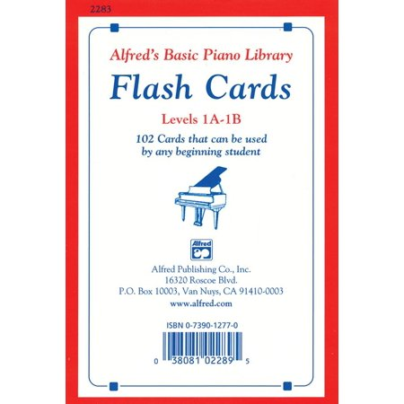 - Alfred's Basic Piano Library: Alfred's Basic Piano Library Flash Cards, Bk 1a & 1b: 102 Cards That Can Be Used by Any Beginning Student, Flash Cards (Paperback)