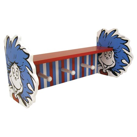 Trend Lab Dr. Seuss Thing 1 and Thing 2 Shelf with Pegs - Thing One Thing 2