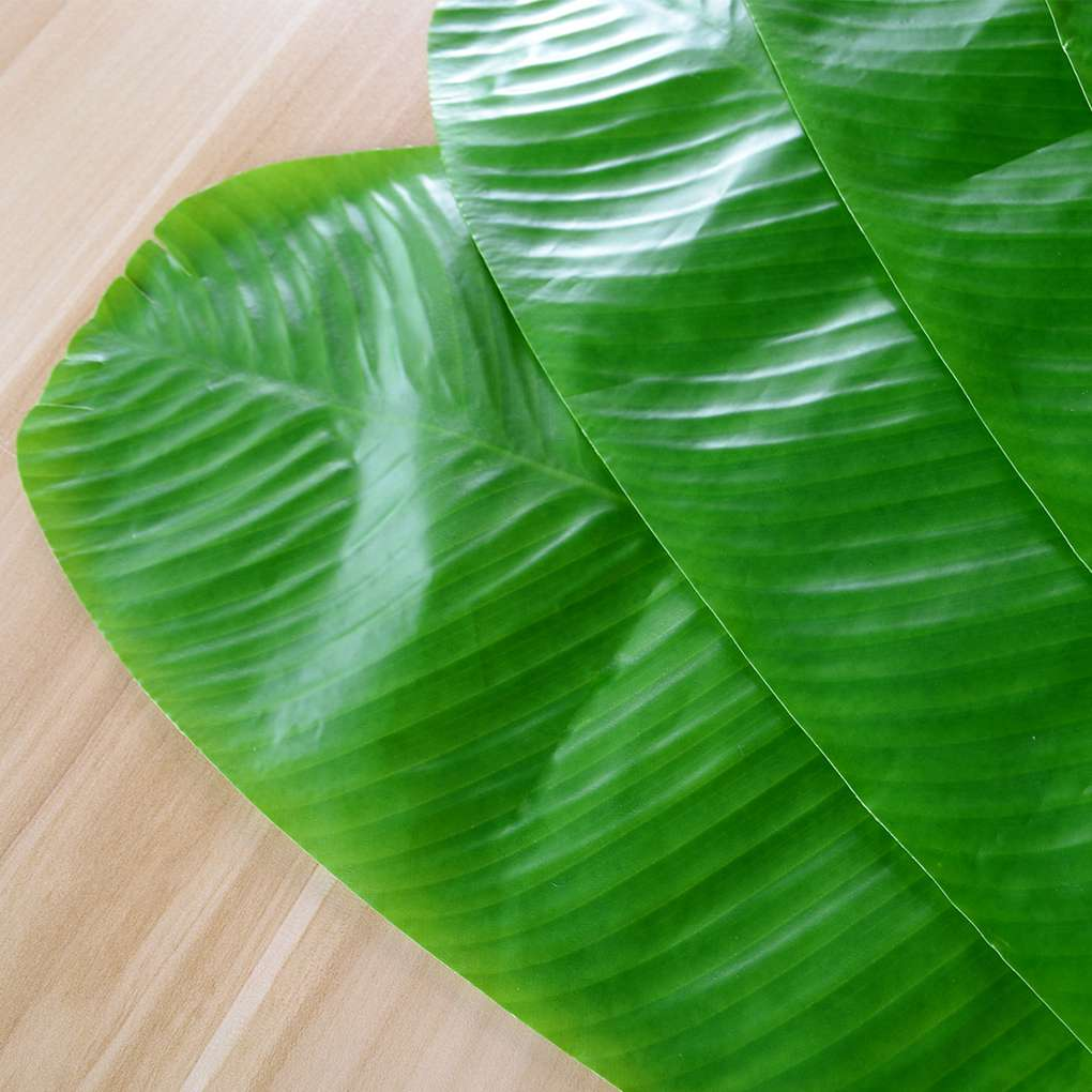 Green Leaf tropical Table Mat dining place mat Cafe Theme Party jungle Lunch NEW