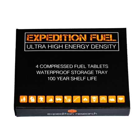 Expedition Solid Fuel Hexamine XL Tablets - Rugged & Submersible Storage Tray for Camping Stoves and Fire Starting, Backpacking, Survival, Bushcraft and Emergency
