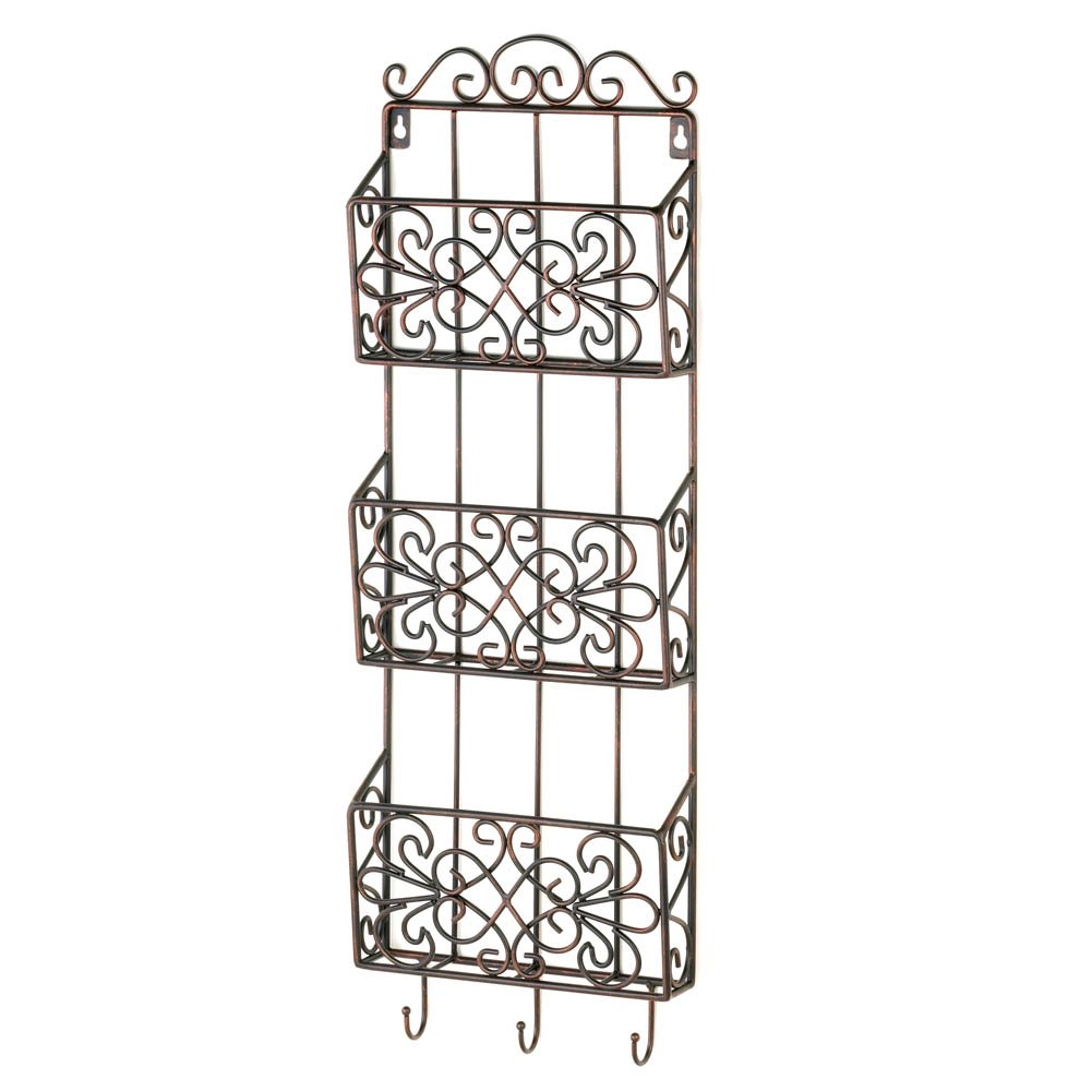 Magazine Wall Rack, Wall Decorative Metal Wall Rack Storage