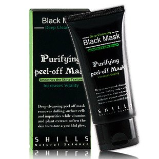 SHILLS Purifying Black Peel-off Mask,Facial Cleansing, Blackhead Remover Deep Cleanser, Acne Face Mask (Single)