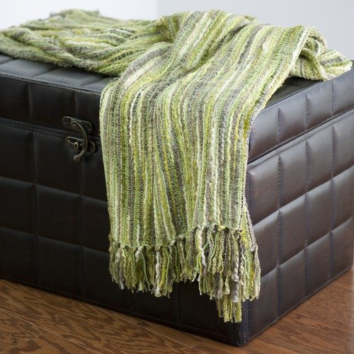 Rizzy Home TH-0080 Throw in Green