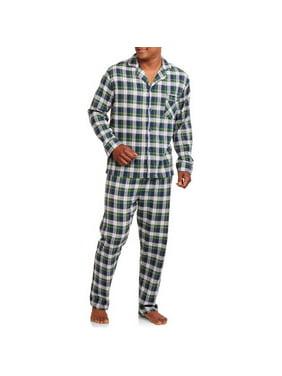 Hanes Men's and Big Men's 100% Cotton Flannel Pajama Set