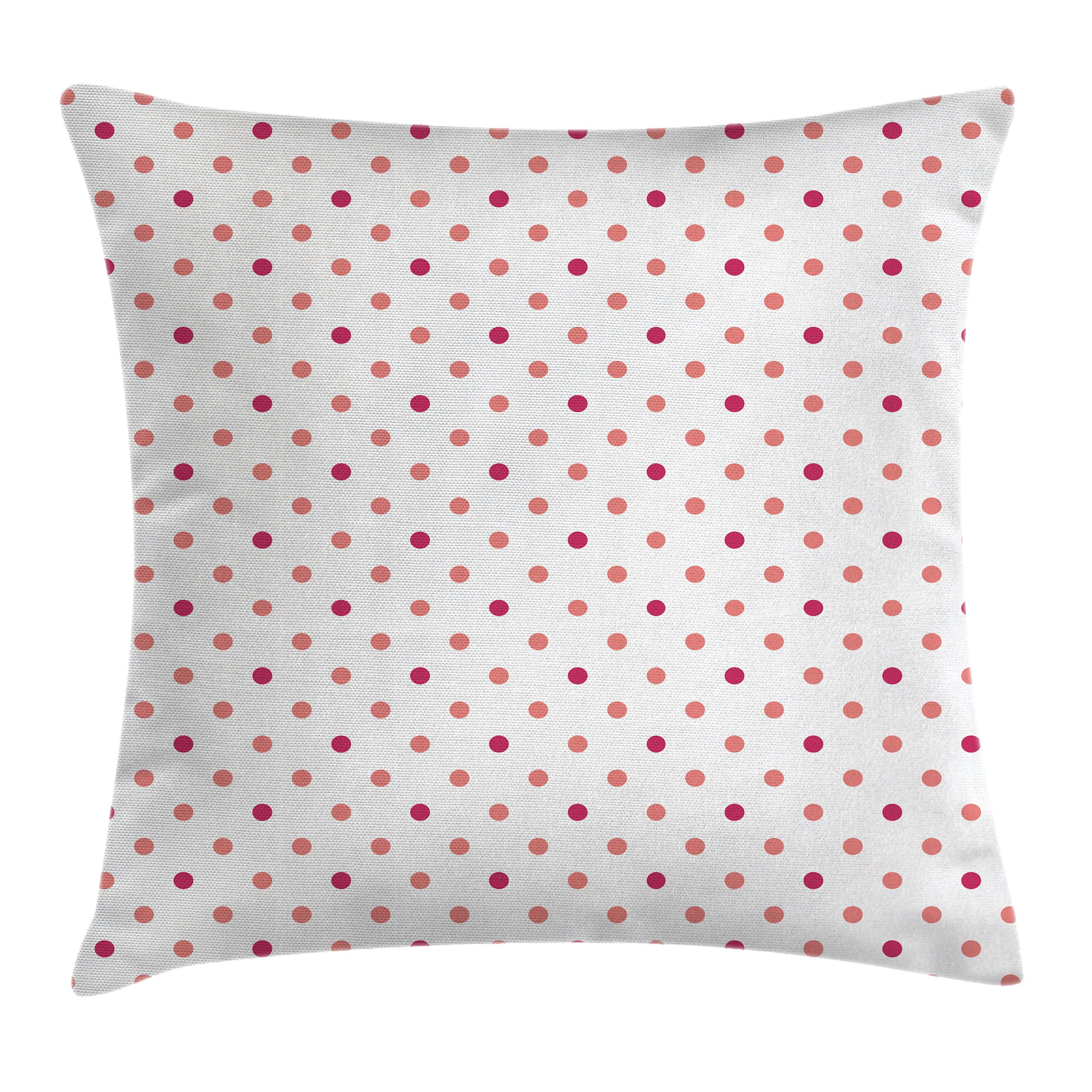 Coral Throw Pillow Cushion Cover, Classical Retro Style Soft Colored Polka  Dots Tile Small Spots
