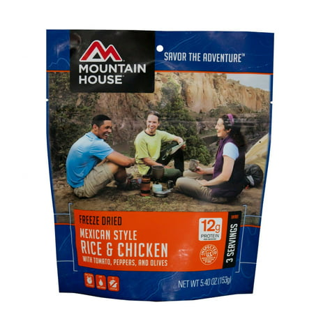 - Mountain House Mexican Style Chicken with Rice
