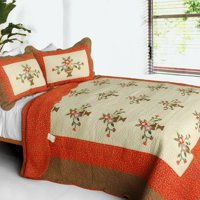 Winter Sonata 3PC Cotton Contained Patchwork Quilt Set (Full/Queen Size)