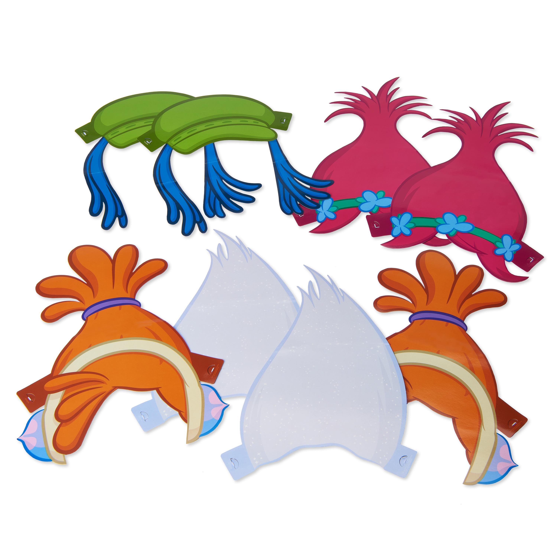 Trolls Paper Costume Headbands, 8ct