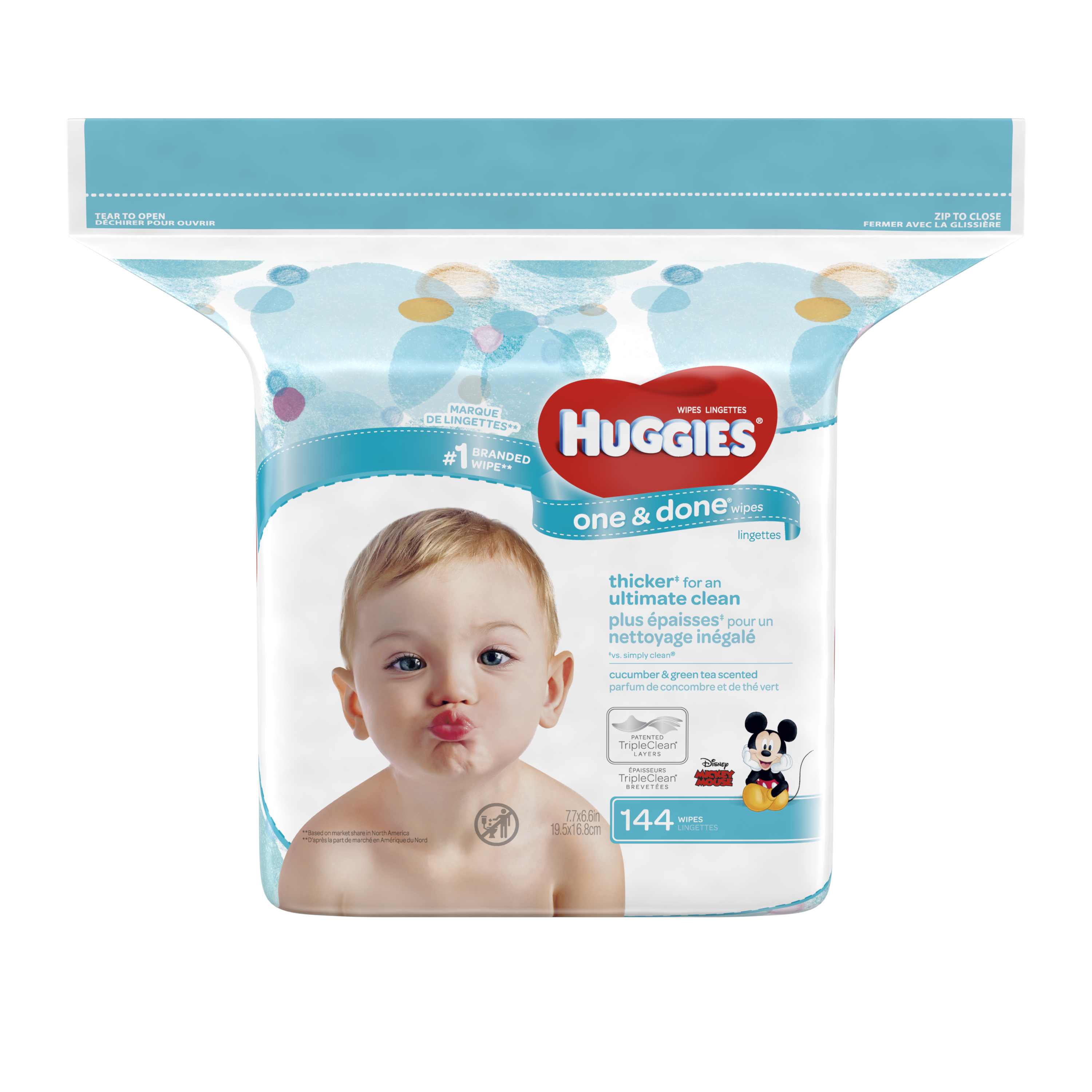 HUGGIES One and Done Refreshing Baby Wipes Refill Pack, (2 pack, 144 sheets)