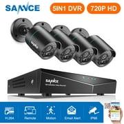 SANNCE 8CH 1080N AHD DVR 4pcs 720P IR outdoor CCTV Home Security System Cameras Surveillance Video kits-No Hard Drive Disk