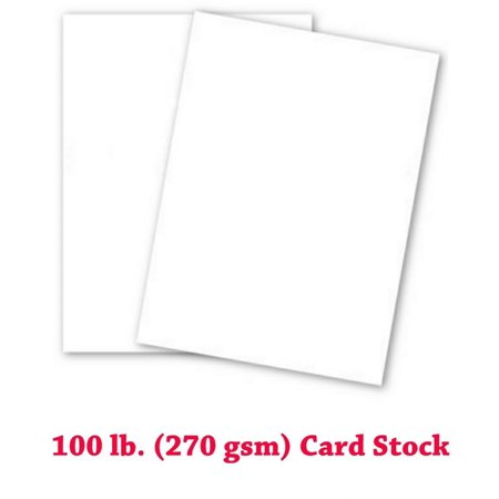 Extra Thick 100lb Cover White Cardstock - 50 Sheets (11-x-17-inch)