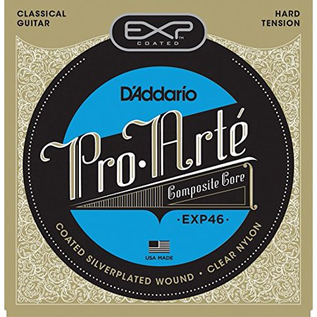 EXP46 Coated Classical Guitar Strings, Hard Tension, D'Addario's heavy gauge version of our most popular classical string known for quality, consistency and a warm yet.., By