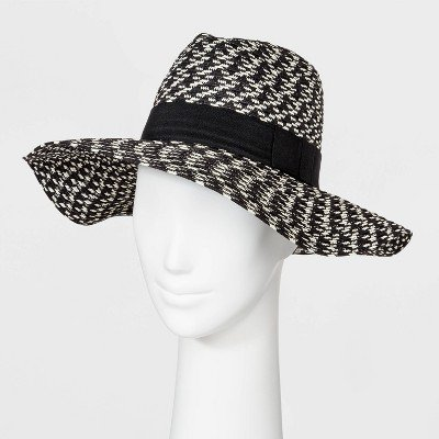 Women's Straw Fedora Hat - A New Day™ Black