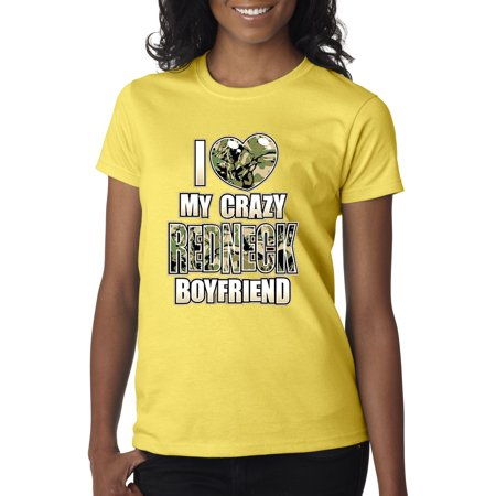 New Way 070 - Women's T-Shirt I Love My Crazy Redneck Boyfriend