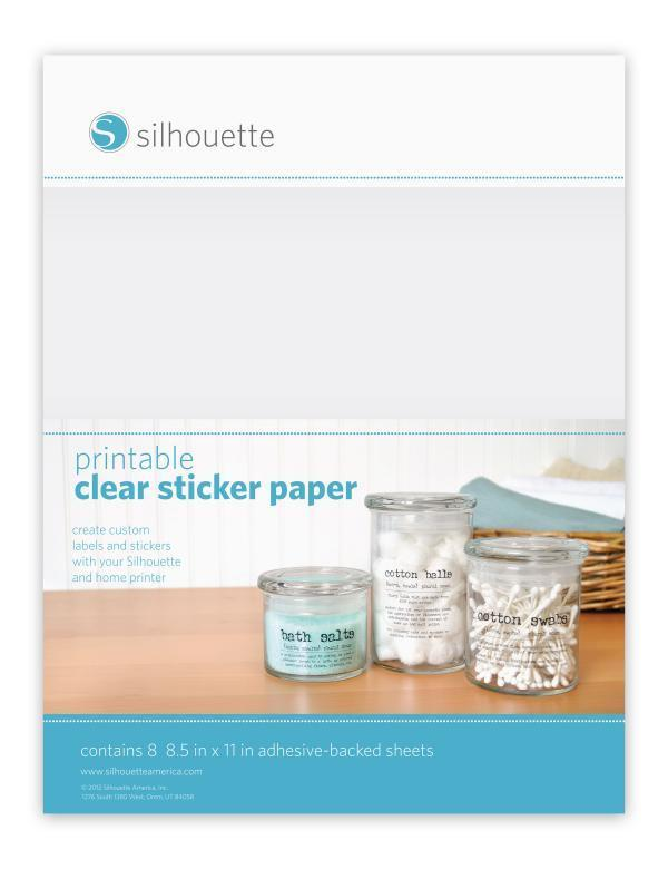 photo relating to Printable Sticker Paper Walmart known as Silhouette Sticker Paper - Obvious