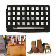 Leather Craft Metal Letter and Number Stamps Punch Punch Kit, 26 Letters Alphabet & 10 Numbers Imprinted Metal Leather Punching Tools for Belt Bag Shoes Saddle Marking Carving Embossing Stamp 3mm, 6mm