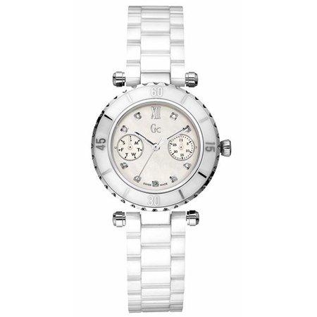 dbe03bbd5 GUESS - GC Diver Chic Diamond White Ceramic Ladies Watch G46003L1 -  Walmart.com