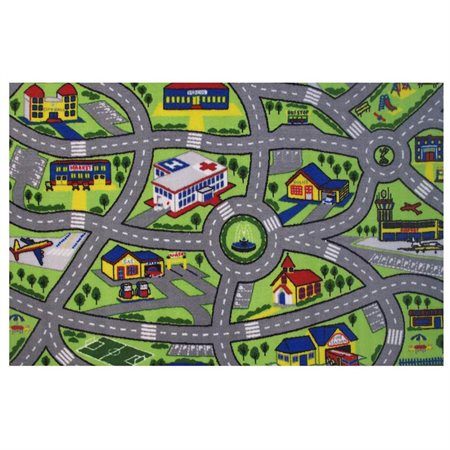 Driving Fun Area Rug (2 ft. 4 in. L x 1 ft. 6 in. W (1 lbs.))