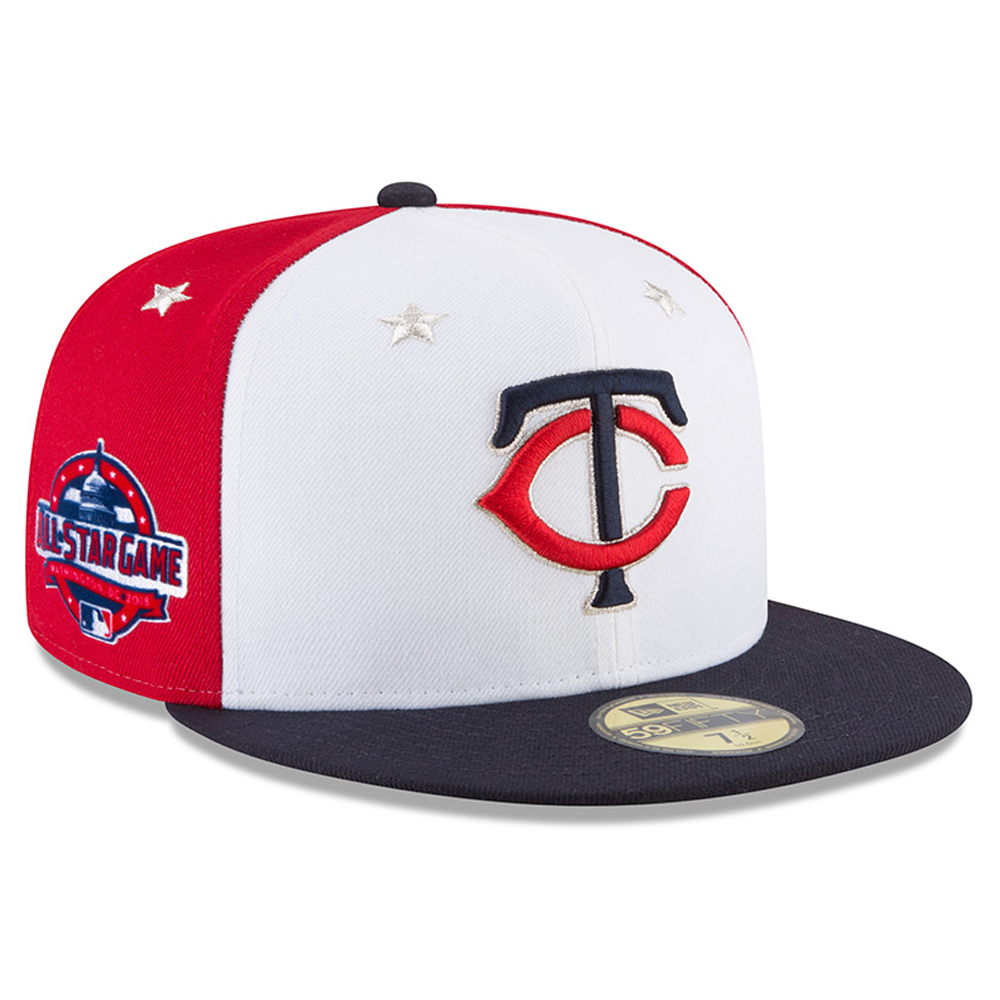 Minnesota Twins New Era 2018 MLB All-Star Game On-Field 59FIFTY Fitted Hat - White/Navy