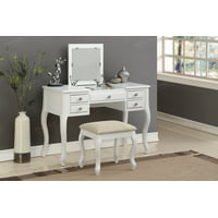 Bobkona Cailyn Flip Up Mirror vanity Set with Stool in Multiple Colors