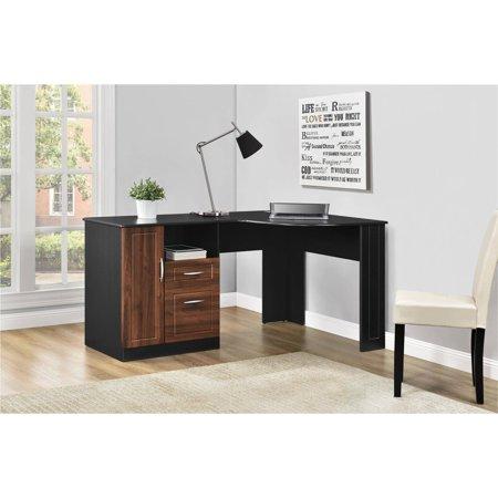 Altra Avalon Corner Desk, Cherry/Black ()