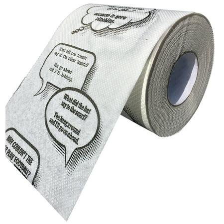 Joke Toilet Paper Novelty Funny Gag Gift Bathroom Paper Roll Fits On Any