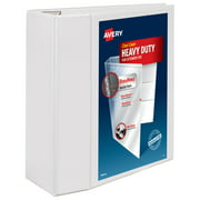 "Avery Heavy-Duty View 3 Ring Binder, 5"" One Touch EZD Ring, Holds 8.5"" x 11"" Paper, White (79106)"