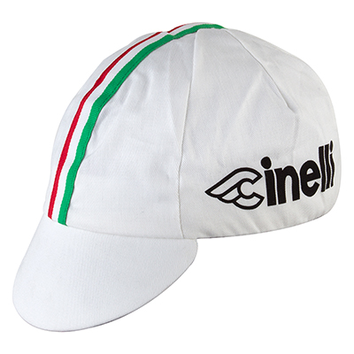 Pace Sportswear Cotton Cap - Cinelli White Rwg Stripe
