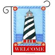 "guiding light summer garden flag welcome lighthouse nautical 12.5"" x 18"""