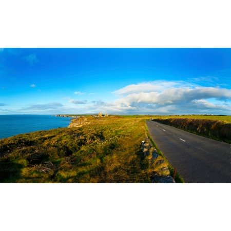 Country Road Leading To The Old Copper Mine Tankardstown Copper Coast Geopark Bunmahon County Waterford Republic Of Ireland Canvas Art   Panoramic Images  14 X 24