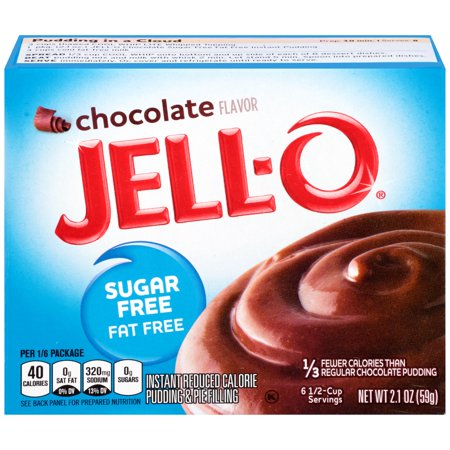 Fat Free Sweet - Jell-O Sugar Free Fat Free Chocolate Instant Reduced Calorie Pudding & Pie Filling Mix 2.1 oz. Box