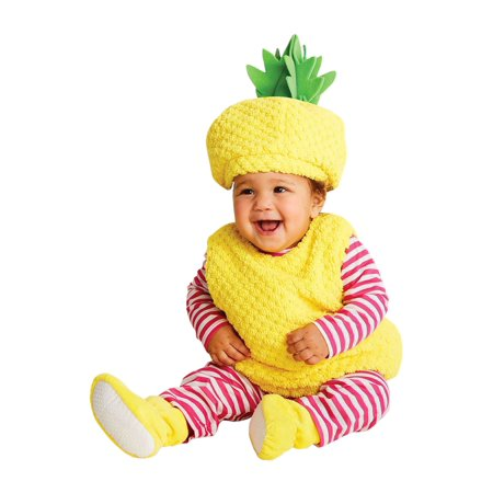 Hyde and Eek! Boutique Girls Pineapple Complete Costume pinkyellow 12-18 mos - Infant](Pineapple Baby Costume)