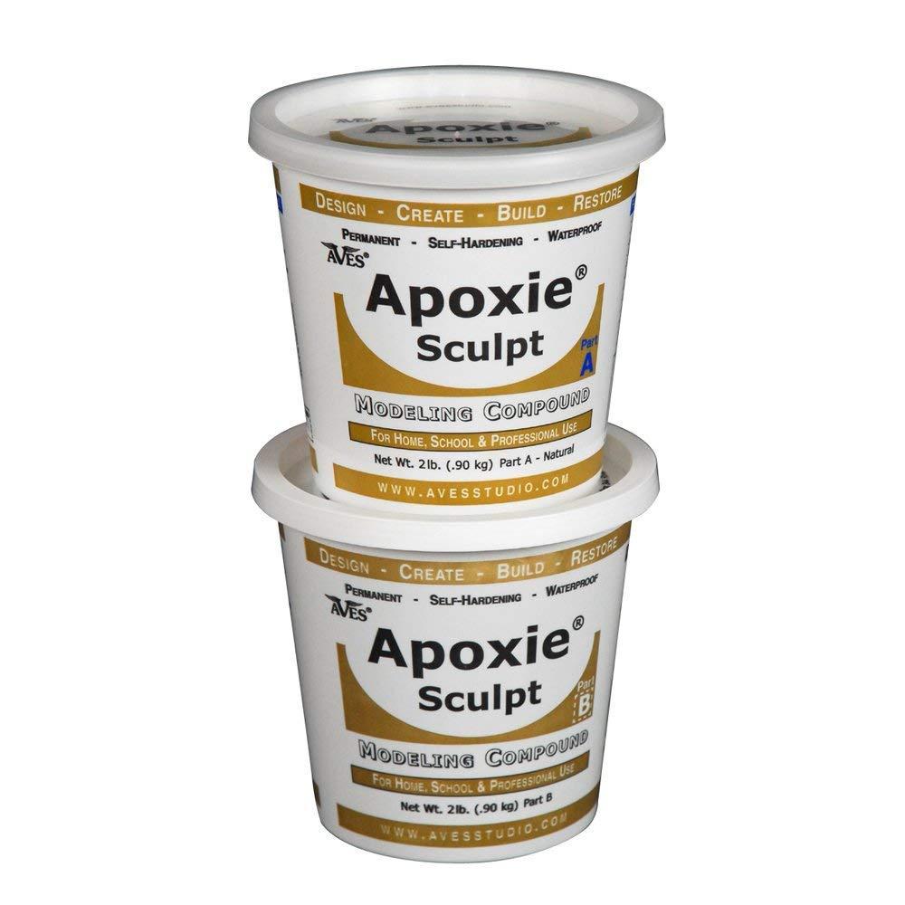 Apoxie Sculpt 4 lb. White, 2 part modeling compound (A & B)