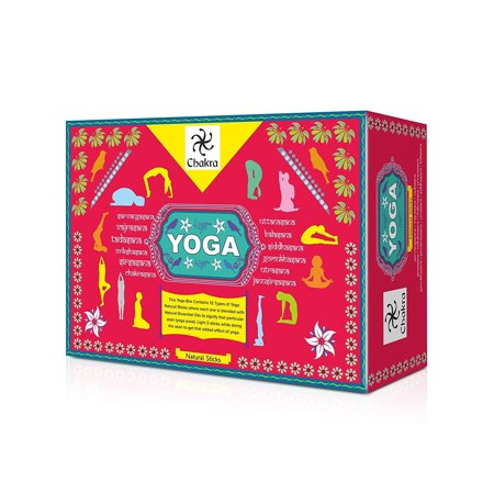 Chakra Yoga Natural and Hand Made Incense Sticks - 12 Fragrances for 12 Asanas - Made from Natural Essential Oils And Herbal Products - 12 Packs (10 Sticks Per