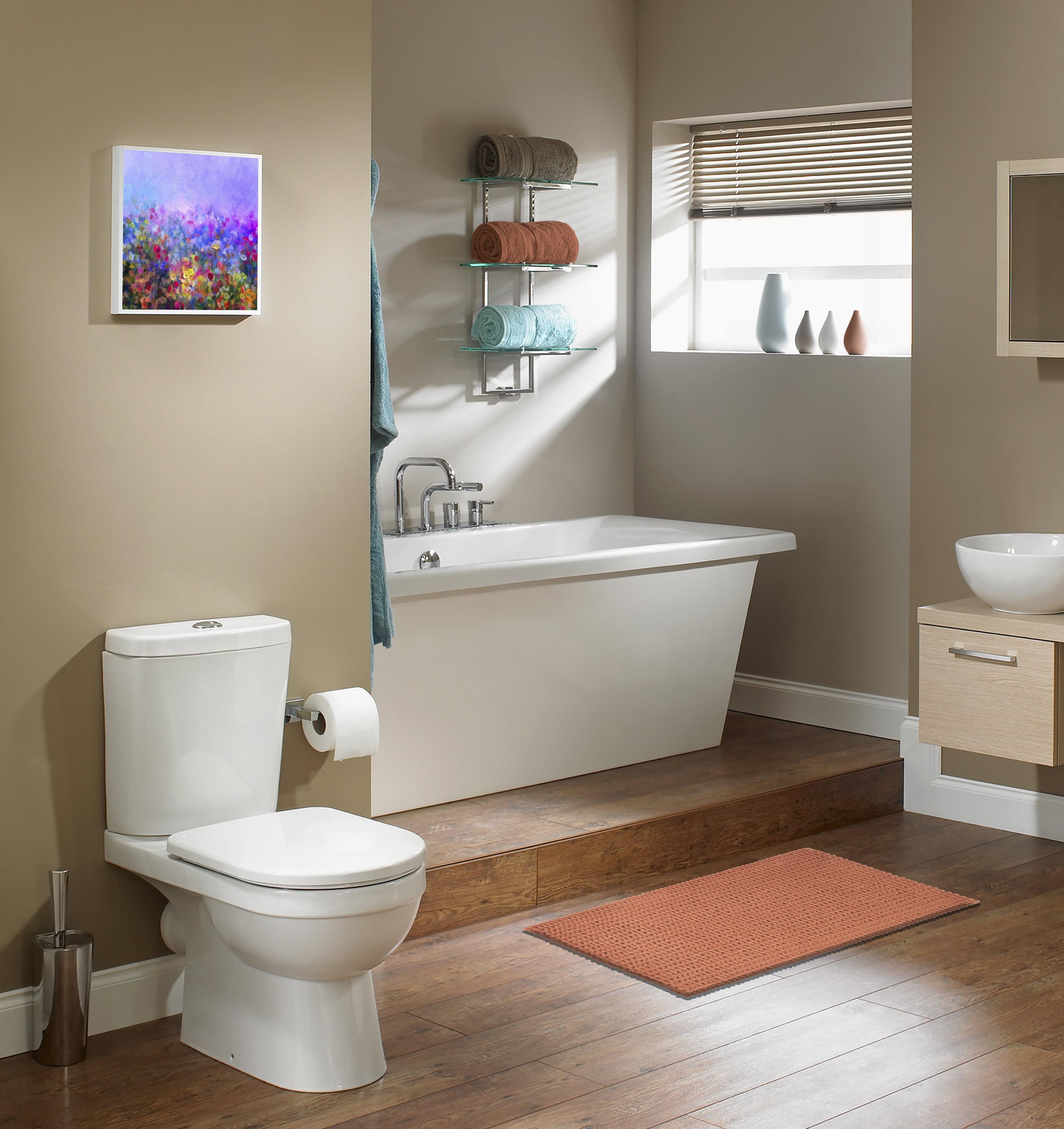 """Better Homes & Gardens Memory Foam Noodle Bath Mat, Terracotta Dream, 17"""" x 23.5"""""""
