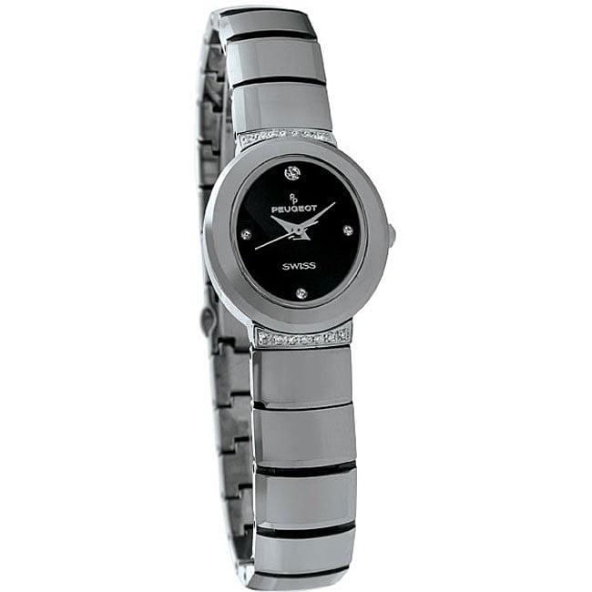 Peugeot  Swiss Women's Tungsten Carbide Crystal Watch