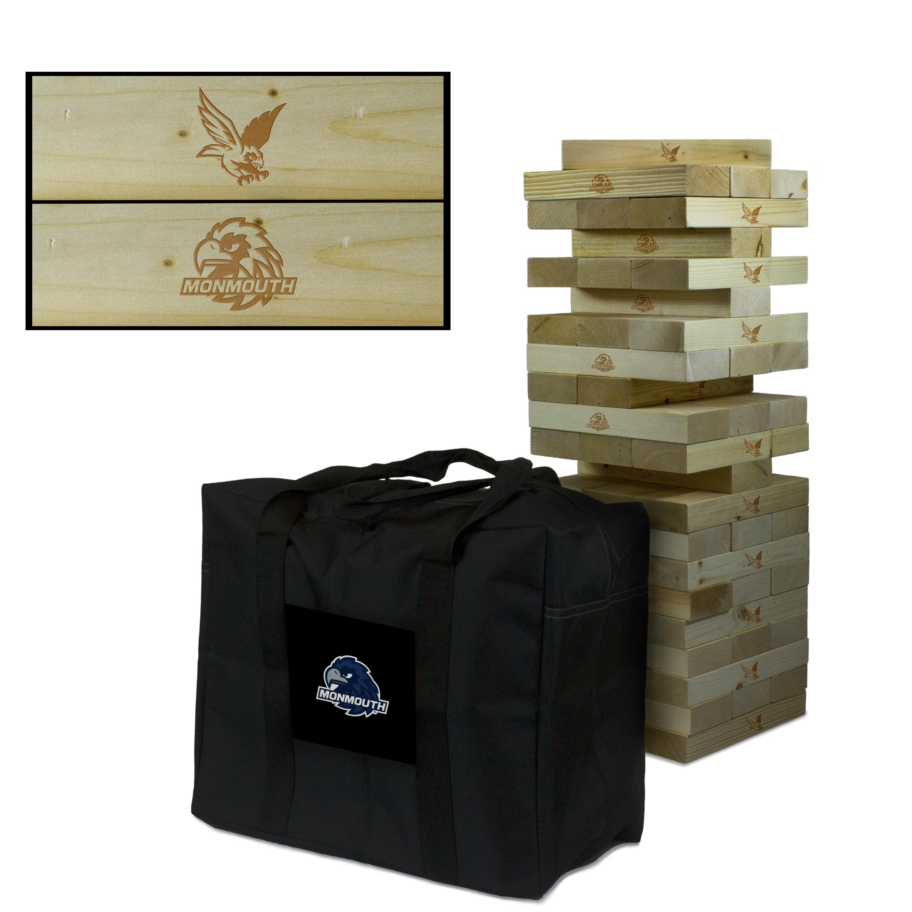Monmouth University Hawks Giant Wooden Tumble Tower Game