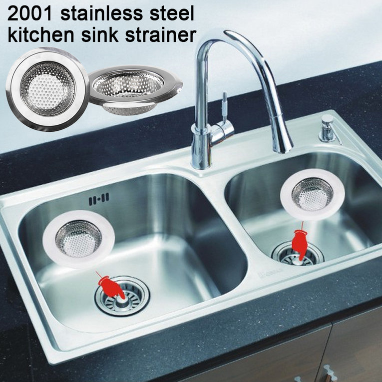 Modern Simple Design Home Kitchen Stainless Steel Sink Filter Sewer Drain Hair Colanders Strainers Kitchen Accessory