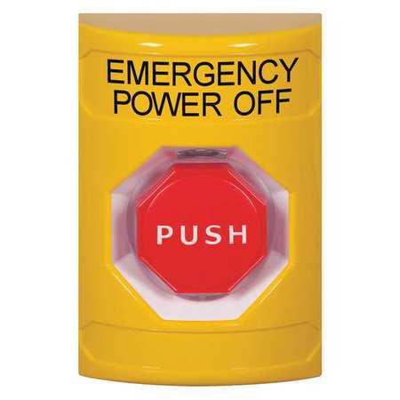 Emergency Power Off Push Button,Yellow SAFETY TECHNOLOGY INTERNATIONAL SS2205PO-EN