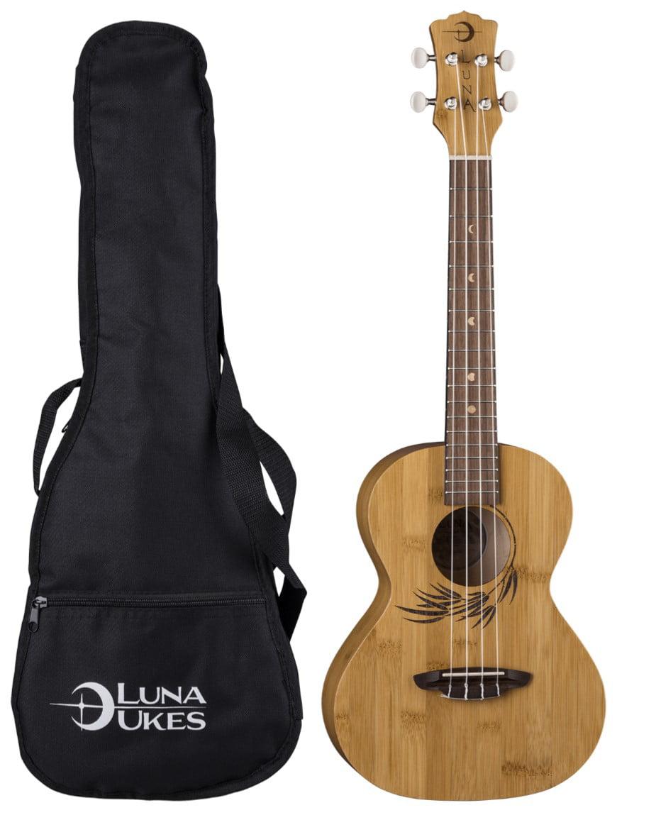Luna Guitars Bamboo Tenor Ukulele w  Gigbag, UKE BAMBOO T by Luna