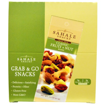 Sahale Snacks, Trail Mix, Classic Fruit + Nut Blend, 9 Packs, 1.5 oz (42.5 g) Each(pack of 4)