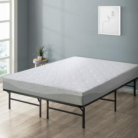 Best Price Mattress 9 inch Gel-infused Memory Foam Mattress & Dual-Use Steel Bed Frame/Foundation Set,