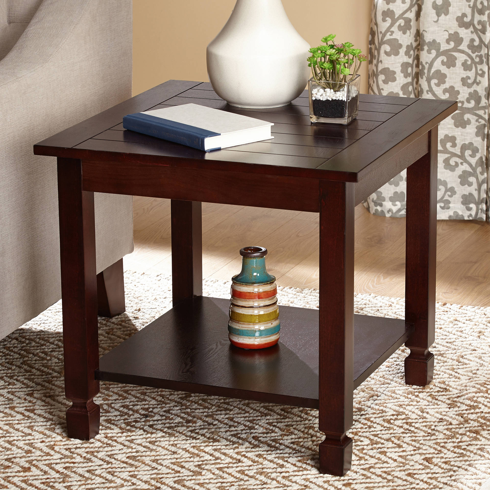 Zenith End Table Espresso Walmart