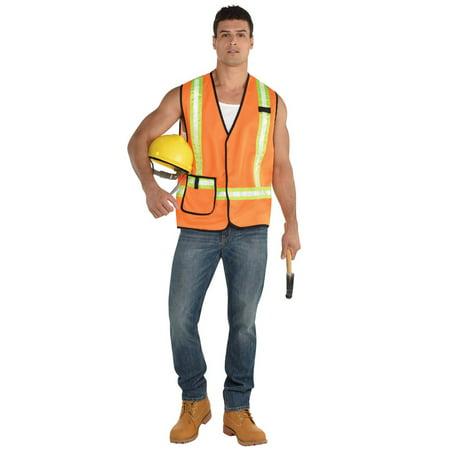 Construction Worker Vest Adult Costume](Construction Workers Halloween Costume Women)