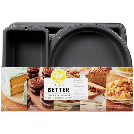 Wilton Bake It Better Nesting Bakeware Set, 5-Piece (Baking Sets For Adults)