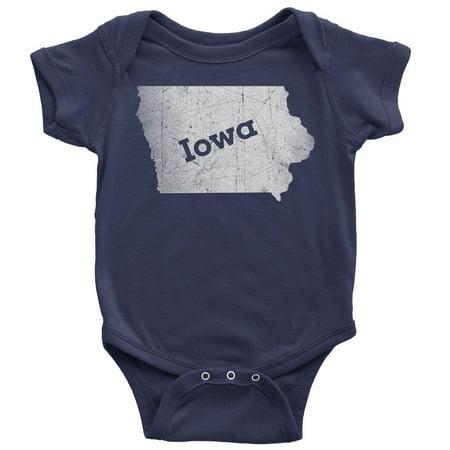 9-12 Months / Navy Blue Iowa Baby Bodysuit Home - Shirt Bodysuit Baby