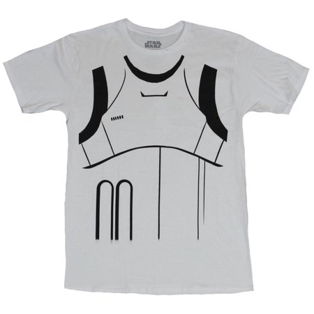 Star Wars Mens T-Shirt - Stormtrooper Simple Costume Front Image (Simple Costume)
