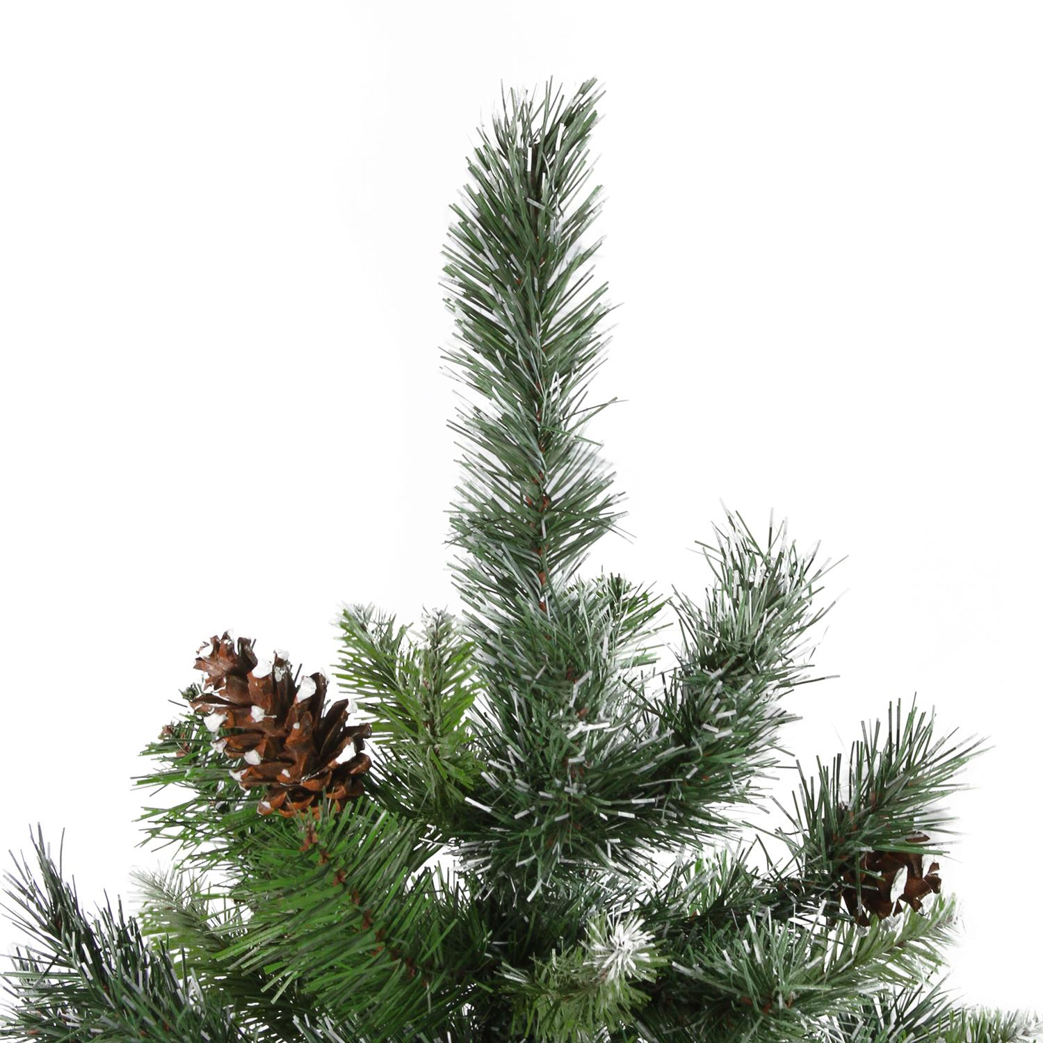 Artificial Christmas Tree With Pine Cones: 4' Snowy Delta Pine With Pine Cones Artificial Christmas